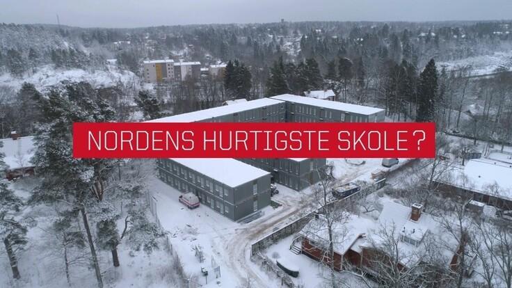 Falkbergsskolan in Denmark cladded with Rockpanel Structures facade cladding