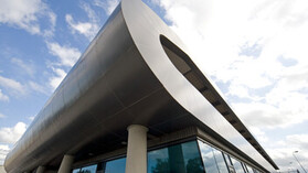 Rockpanel Metallics used in the Bangor Recycling and Environmental Information Centre in Bangor,  Northern Ireland